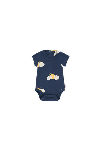 Tinycottons - SLEEPY SUN BODY, light navy/yellow