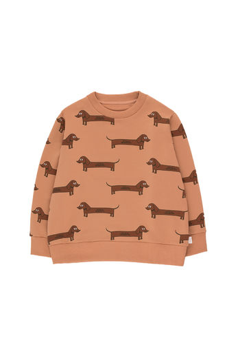 Tinycottons - IL BASSOTTO SWEATSHIRT, tan/dark brown