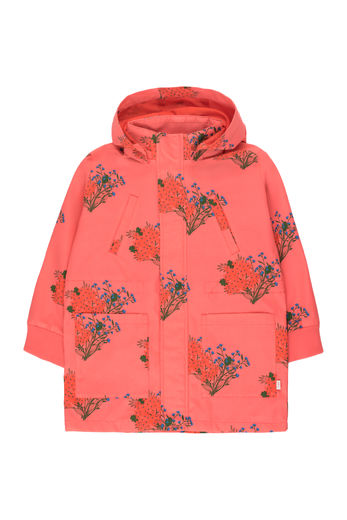 "Tinycottons - ""FLOWERS"" JACKET, light red/red"