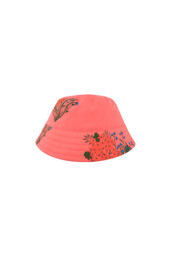 "Tinycottons - ""FLOWERS"" BUCKET HAT, light red/red"