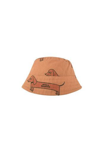 "Tinycottons - ""IL BASSOTTO"" BUCKET HAT, tan/cinnamon"