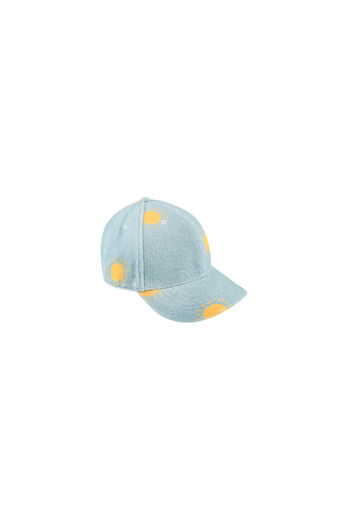 "Tinycottons - ""SUN"" CAP, sea green/yellow"