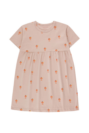 Tinycottons - ICE CREAM CUP DRESS, dusty pink/papaya, SS21-013