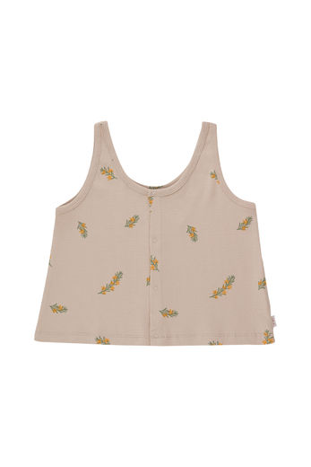 Tinycottons - TWIGS TANK TOP, dusty pink/green, SS21-062