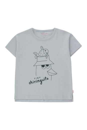 Tinycottons - FRIENDS TEE, pale grey/ink blue, SS21-094