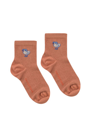 Tinycottons - TINY BIRD SHORT SOCKS, papaya, SS21-358
