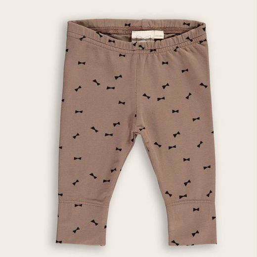 Mini Sibling - Slim Pants Bow, Mocha