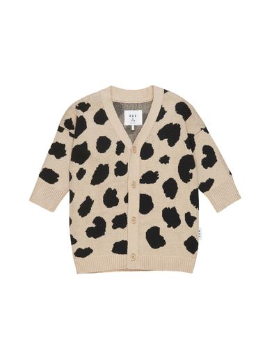 Huxbaby - Animal Spot Knit Cardi