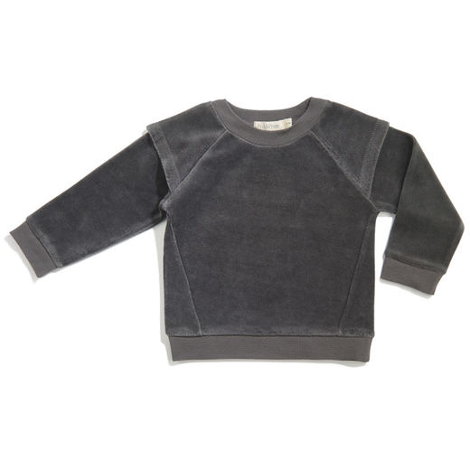 Phil&Phae - Armour sweater velvet, Graphite