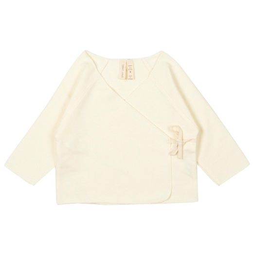 Gray label- Baby cross over top, cream