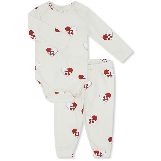 Konges Slojd - Christmas baby pyjamas, hearts