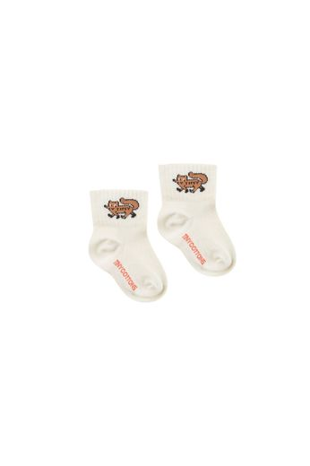 "Tinycottons - ""TINY FOX"" QUARTER SOCKS cream/sienna"