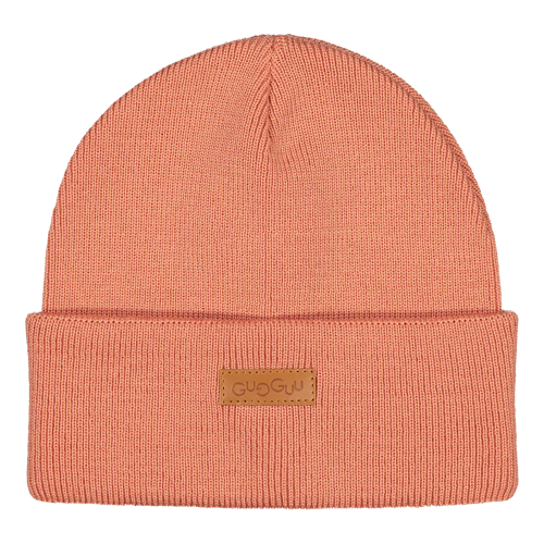 Gugguu - Basic knitted beanie, rose berry