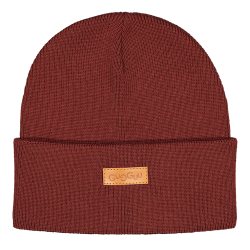 Gugguu - Basic knitted beanie, bark brown