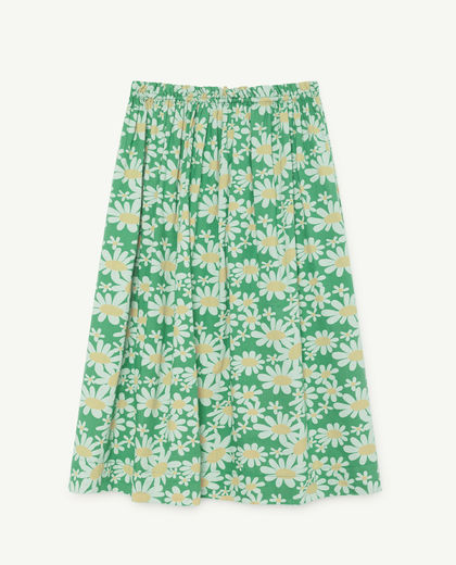 TAO - Blowfish kids skirt, green daisies 000908-028