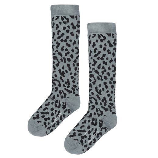 Maed for mini - Blue Leopard Knee Socks