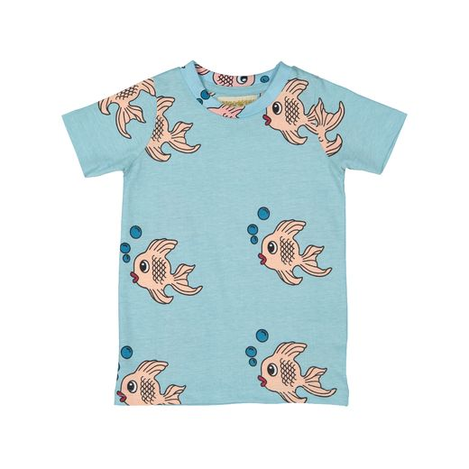 Hugo loves Tiki - T-Shirt, Blue Fish