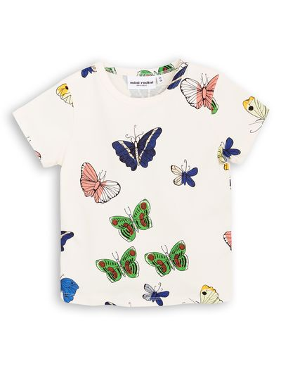 mini rodini - Butterflies SS tee, white