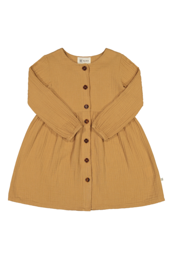 Kaiko - Button Dress Ls, Fudge