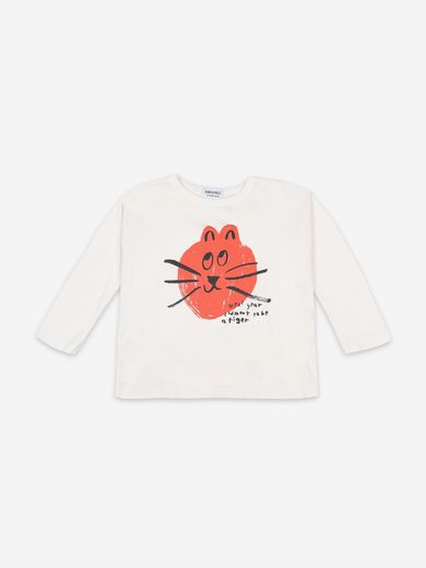 Bobo Choses - Cat long sleeve T-shirt  (22081010)