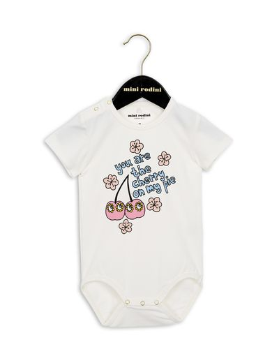 mini rodini - Cherry SS body, white