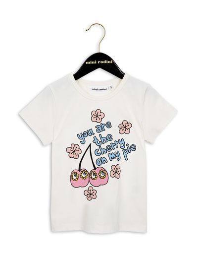mini rodini - Cherry SP tee, white