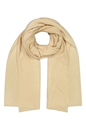 Kaiko - Knitted cashmere scarf, coconut