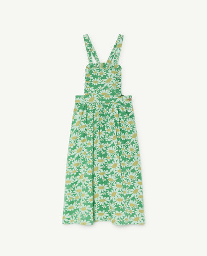 TAO - Cow Kids dress, green daisies 000904-028