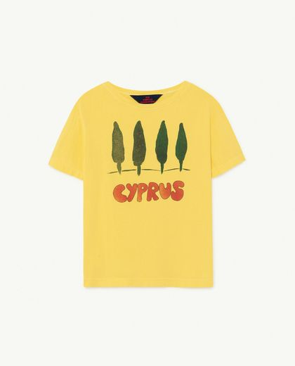 TAO -  Rooster kids T-shirt, yellow cyprus