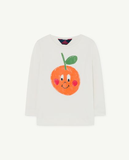 TAO - Deer kids UV T-shirt, white fruit 001271 036_PY