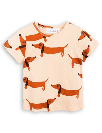 mini rodini - Dog SS tee, beige