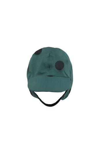 "Tinycottons - ""BIG DOTS"" SNOW HAT dark green/black"