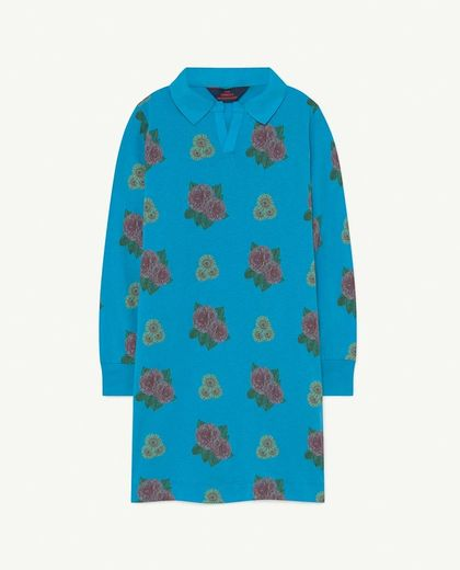 TAO - DRAGON KIDS DRESS, blue flowers