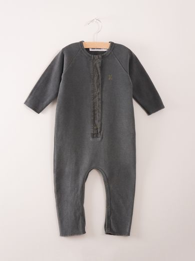 Bobo Choses - Fleece jumpsuit fish, dk grey