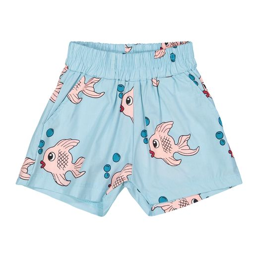 Hugo loves Tiki - Summer Woven Short, Blue Fish