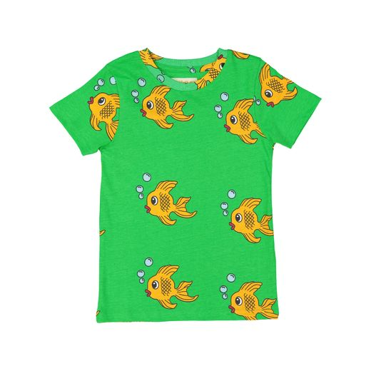 Hugo loves Tiki - T-Shirt, Green Fish