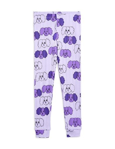Mini Rodini - Fluffy dog aop leggings, purple