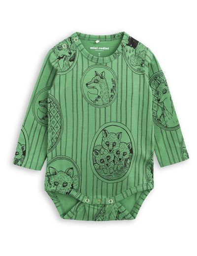 mini rodini - Fox family LS body, green