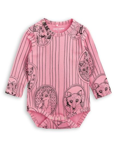 mini rodini - Fox family LS body, pink