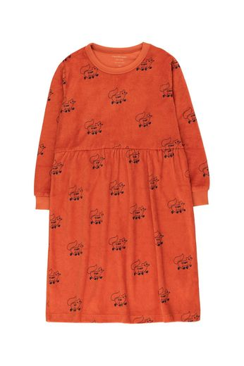 "Tinycottons -  ""FOXES"" DRESS *sienna/navy*"