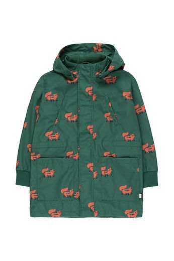 "Tinycottons - ""FOXES"" JACKET dark green/sienna"