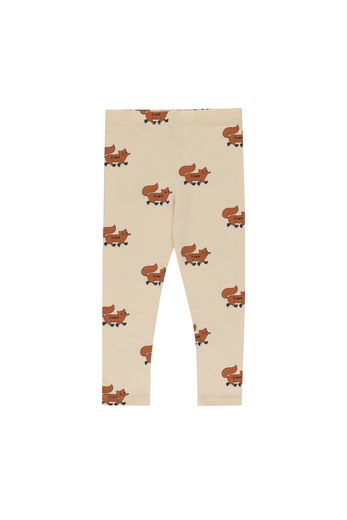 "Tinycottons - ""FOXES"" PANT cream/brown"