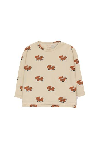 "Tinycottons - ""FOXES"" TEE cream/brown"