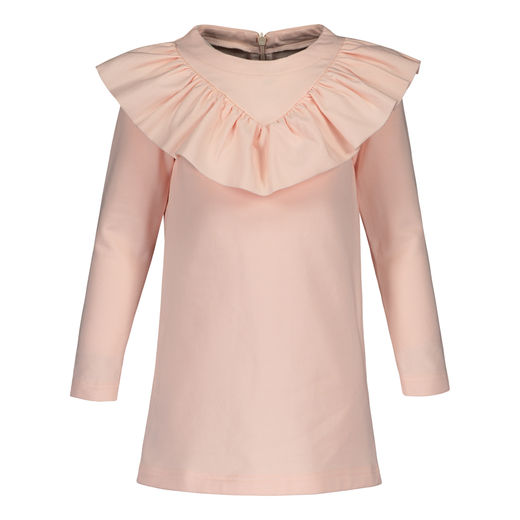 METSOLA - V-Frilla dress, Pearl Blush