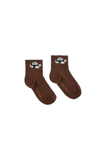 "Tinycottons - ""TINY FUJI"" QUARTER SOCKS ultra brown/cream"