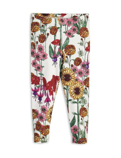 mini rodini - Garden leggings, off white