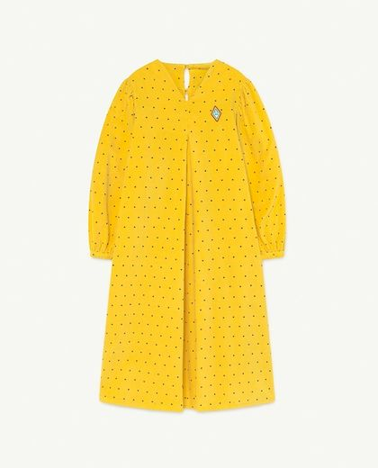 TAO - GIRAFFE KIDS DRESS Yellow Dots