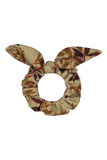 Kaiko - Bow scrunchie, Golden bottany