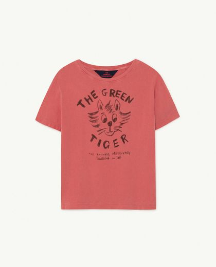 TAO -  Rooster kids T-shirt, red tiger