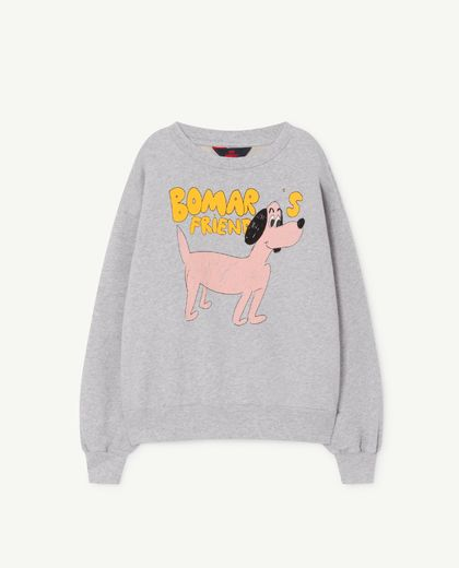 TAO - BEAR KIDS SWEATSHIRT, grey dog 001165 185_PL